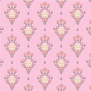 Riley Blake Easter Egg Hunt Royal Egg Pink Fabric 0.5m