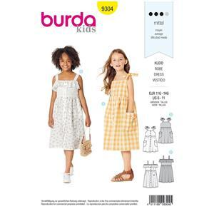 Burda Children's Pinafore Dress Pattern - Ages 6-11