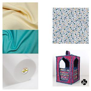 Hannah Basic Daisy Fat Quarter Storage Kit: Pattern, Style-Vil & Fabric (1.5m)