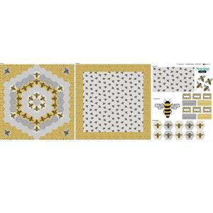 Complete Cushion Bumble Bee Fabric Panel 140x85cm
