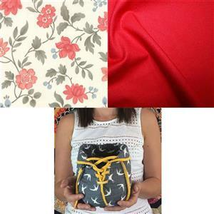 Moda Scarlet Lovely Pouch Sewing Kit: Pattern & Fabric (1m)