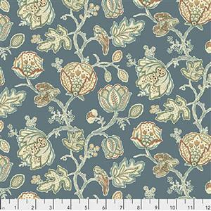 William Morris Orkney  Theodesia Blue Fabric 0.5m
