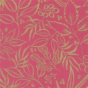 Moda Moody Bloom Pink & Gold Fabric 0.5m