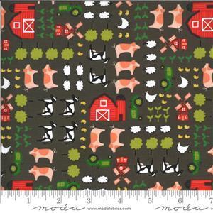 Moda On The Farm - Farmland - Grey Fabric 0.5m