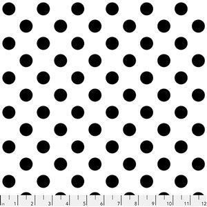 Tula Pink Linework Pom Poms on Paper Fabric 0.5m