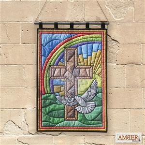 Amber Makes Sunrise Stained Glass Kit, Instructions & Panel (70 x 102cm)