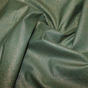 Glitter Gold On Green Cotton Fabric 0.5m