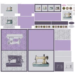 Debbie Shore Sewing Machine Cover Fabric Panel (140cm x 133cm)