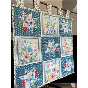 Debbie Harris Wildflower Wall Hanging Kit: Instructions, FQ (4pcs) & Fabric (2m)