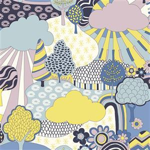 Liberty Carnaby Collection Sunny Afternoon Yellow Fabric 0.5m