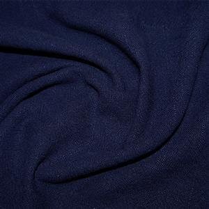 Navy Stonewashed Linen Fabric 0.5m