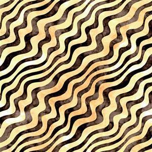 Dan Morris Adagio Yellow Diagonal Swirl Fabric 0.5m
