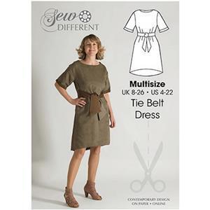 Sew Different Tie Belt Dress Pattern: Sizes 8-26