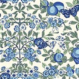 Liberty Orchard Garden Collection Blue Orchard Fabric 0.5m
