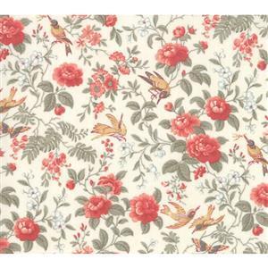 Moda Daybreak Aviary Dawn on White Fabric 0.5m