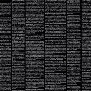Quilters Basic Harmony in Black Text Pre-cut Fabric Bundle 2.5m