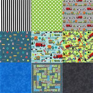 Let's Get Going Quilt Kit - Pattern & Fabric (5.5m)