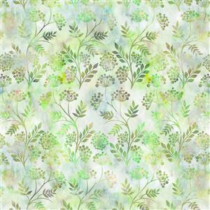 Jason Yenter Floragraphix V Sunset Floral Outlines Fabric 0.5m