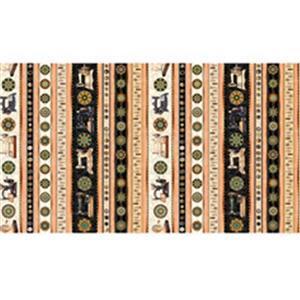 Dan Morris Sew Lovely Sewing Machine Stripes On Salmon Fabric 0.5m