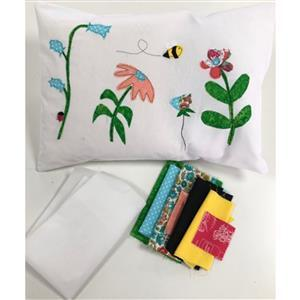Katharine Wrights Bright Bee Flower Garden Appliqué Cushion Kits