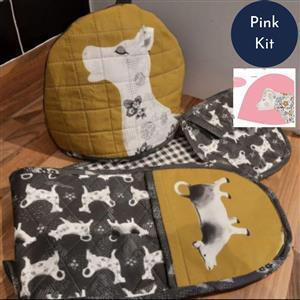Debbie Shore's Pink Cow Creamer Kitchen Set Kit - Instructions & Panel