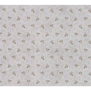 Moda Daybreak Falling Leaves on Silver Fabric 0.5m