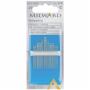 Hand Sewing Needles - Betweens/Quilting - Nos 3-9 (20 Pieces)