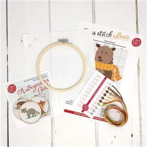 The Crafty Kit Company Bear Cross Stitch Kit