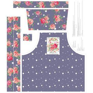 Riley Blake Poppy & Posey Apron Amethyst Fabric Panel 0.9m