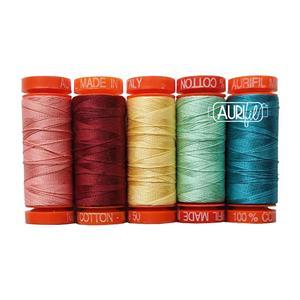 Aurifil Hoffman Garden State Collection Pack of 5 Small Spools