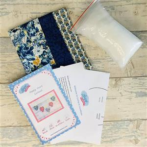 Living in Loveliness Blue Liberty Plush Padded Heart Garland Kit