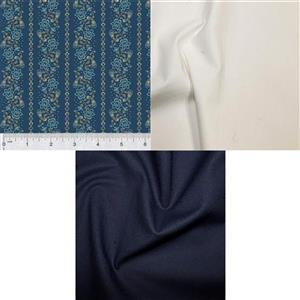 Navy School House & Ivy Quilt Fabric Bundle (1.5m)