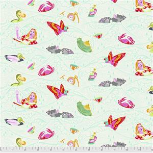 Tula Pink Curiouser And Curiouser in Sea of Tears Wonder Fabric 0.5m