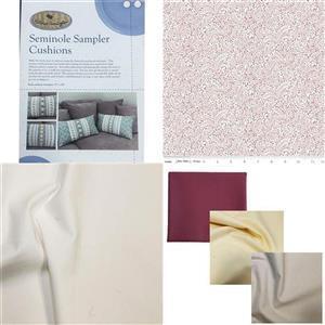 Victoria Carrington's Liberty Pink Seminole Cushion Duo Kit, Instructions, Fabric (1.5m) & 3 FQs