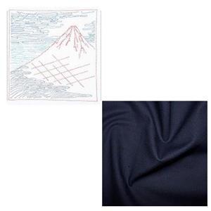 Hana-fukin Mount Fuji Ukiyoe Sashiko Kit Includes Free FQ
