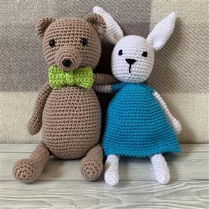 Rabbit and Teddy Crochet Yarn Pack
