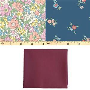 Liberty Cottage Garden Blue Pods Fabric Bundle (1.5m)