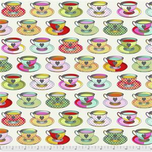 Tula Pink Curiouser And Curiouser in Tea Time Sugar Fabric 0.5m