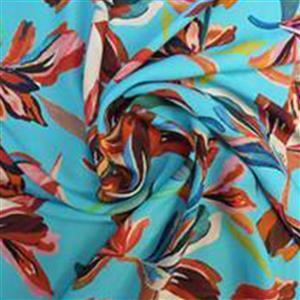 Artisan Display - Turquoise Viscose Challis Lawn Fabric 0.5m