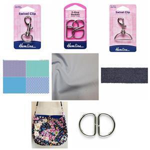 Stem Crazy Patchwork Bag Kit: Instructions, FQ Fabric Panel,Fabric (1.5m) & Haberdashery