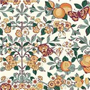 Liberty Orchard Garden Collection Orange Orchard Fabric 0.5m
