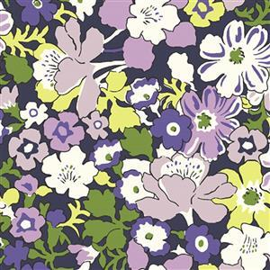 Liberty Carnaby Collection Westbourne Posy Purple Fabric 0.5m