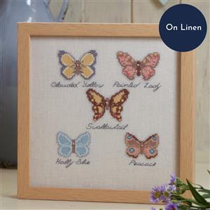 The Cross Stitch Guild Butterfly Collection on Linen