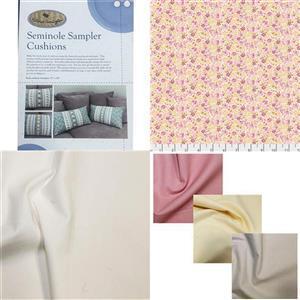 Victoria Carrington's Dena Designs Rose Seminole Cushion Duo Kit, Instructions, Fabric (1.5m) & 3 FQs