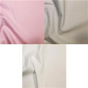 Early Bird Special - Baby Girl Plain Cotton Fabric Bundle (1.5m). Save £2