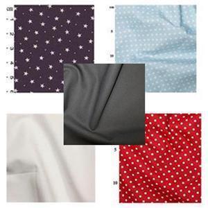 Navy & Red Baby Playmat Bundle: FQ (4pcs) & Fabric (1.5m)