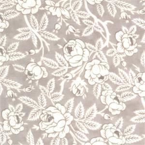 Moda Sanctuary in Ash & White Rose Budding Fabric 0.5m