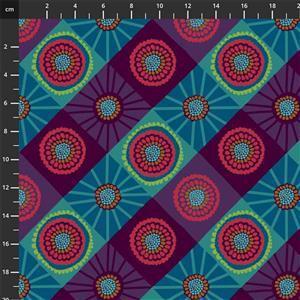 Anna Maria Horner Bright Eyes in Cosmas Mountain Fabric 0.5m