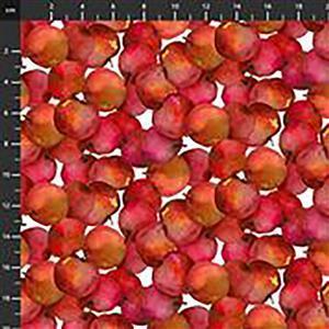 Harvest Whisper Red Apple Fabric 0.5m