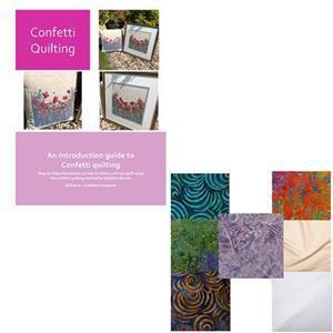 Delphine Brooks Dark Confetti Quilting Kit: Instructions & FQ (7pcs)